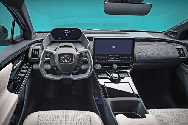 Toyota bZ4X Concept - deska rozdzielcza