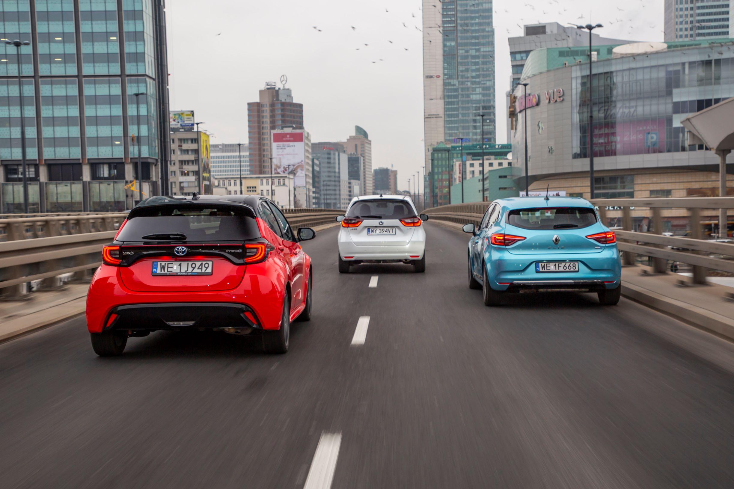 Honda Jazz, Renault Clio, Toyota Yaris