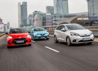Honda Jazz e:HEV, Renault Clio E-Tech, Toyota Yaris Hybrid - PORÓWNANIE