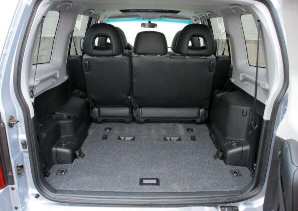 Mitsubishi Pajero III bagażnik