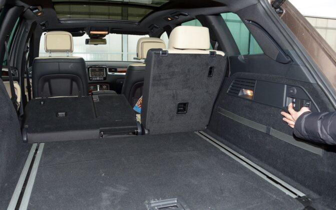 Volkswagen Touareg II bagażnik