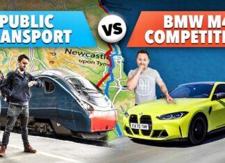 BMW M4 Competition kontra transport publiczny – nietypowy wyścig