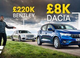 Dacia Sandero kontra... Bentley Flying Spur – nietypowy test