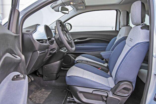 Fiat 500 - fotele przednie