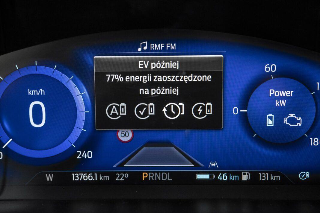 ford kuga plug-in hybrid hybryda 2021 test tryby