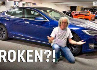 James May popsuł swoją Teslę Model S. Co się stało?