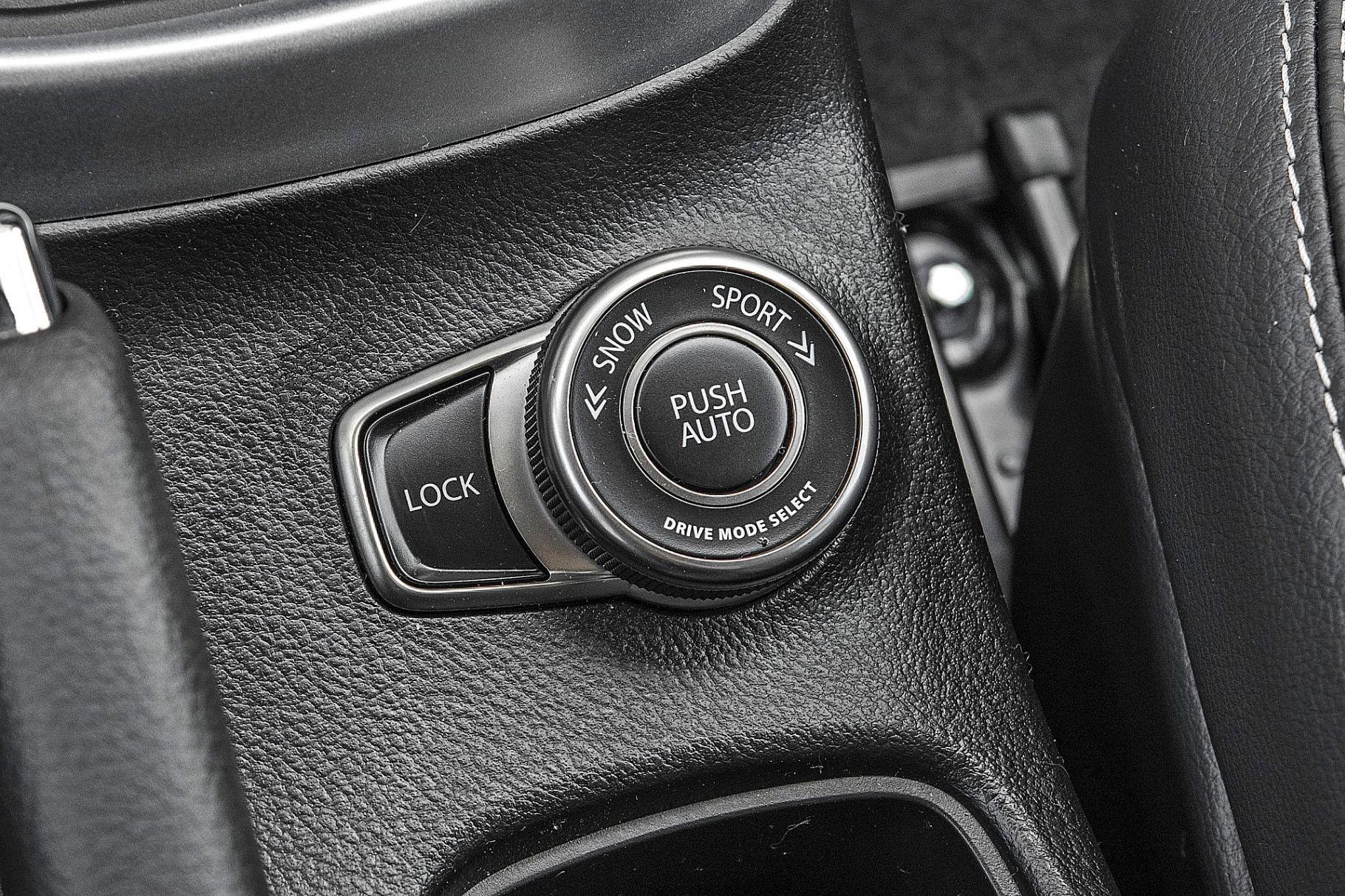 Suzuki SX4 S-Cross Hybrid - pokrętło systemu AllGrip Select