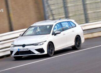 Nowy Volkswagen Golf R Variant przyłapany na Nurburgringu