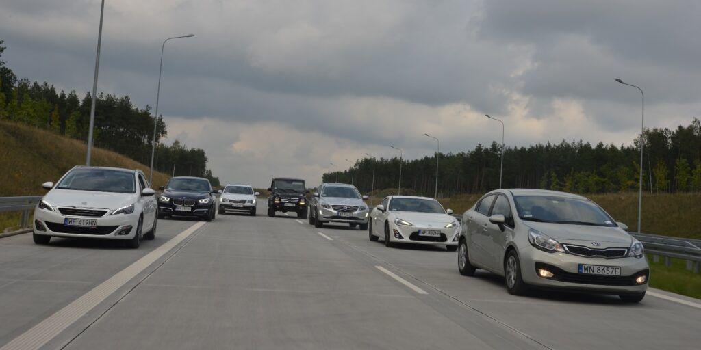 Bezpieczny odstęp na autostradzie