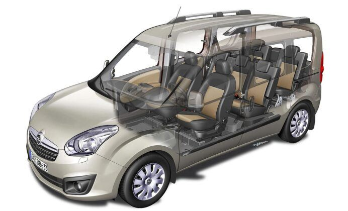 Opel Combo D wersja 7-osobowa