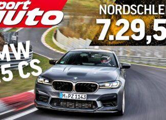 BMW M5 CS – test na torze Nurburgring