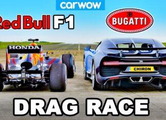 Bugatti Chiron kontra bolid F1 – wyjątkowy wyścig na 1/4 mili