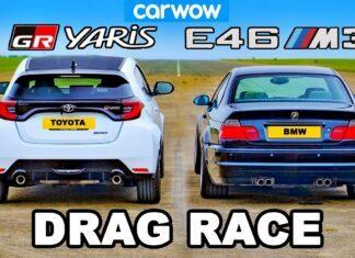 Toyota GR Yaris kontra BMW M3 E46 w wyścigu na 1/4 mili
