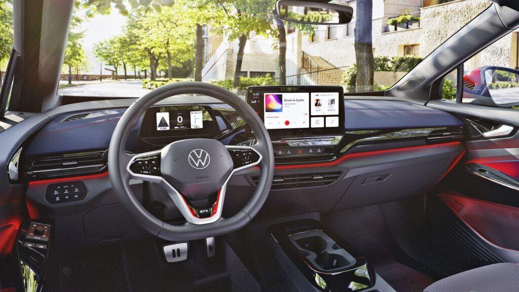 Volkswagen ID.4 GTX - deska rozdzielcza