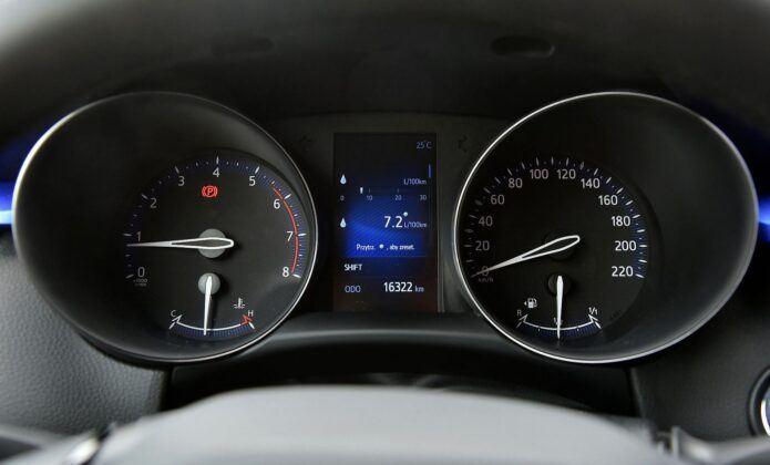 Toyota C-HR zegary