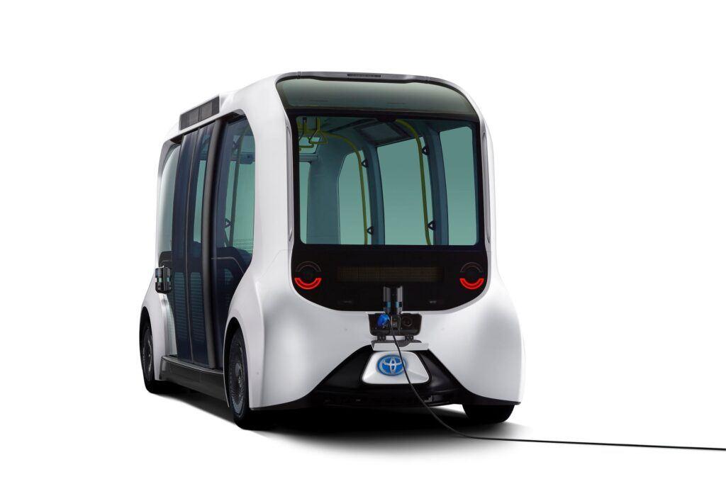 Toyota autobus. Tokio 2021