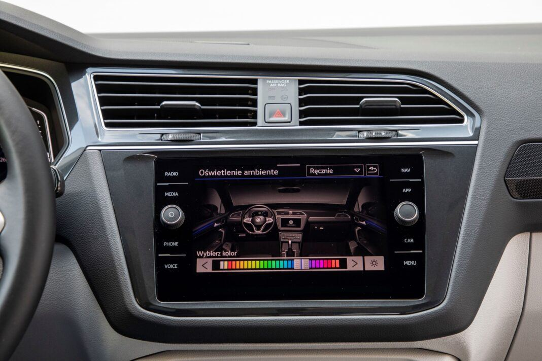 VW Tiguan - ekran