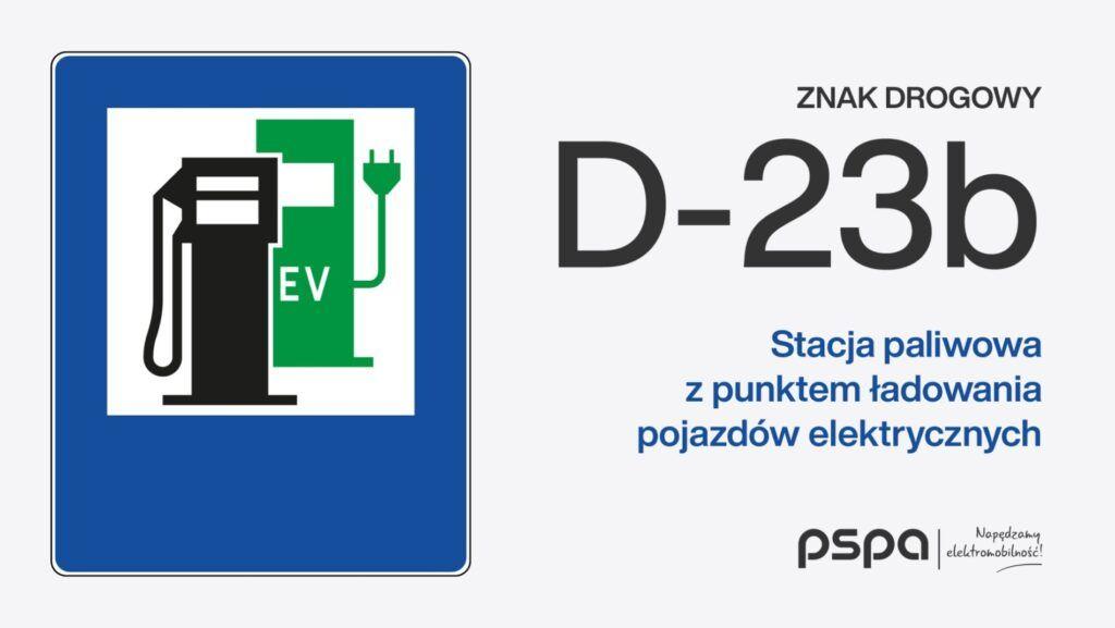 Znak dla samochodów elektrycznych