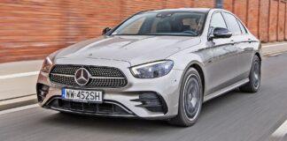 Mercedes klasy E - przód