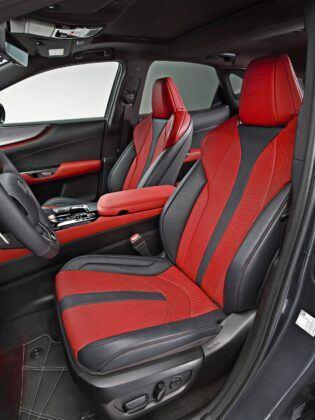 Nowy Lexus NX - fotele przednie