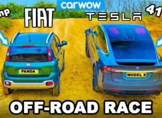 Fiat Panda Cross kontra Tesla Model X – test napędów 4x4