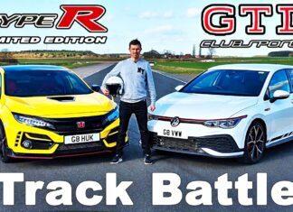 VW Golf GTI Clubsport kontra Honda Civic Type R – test na torze