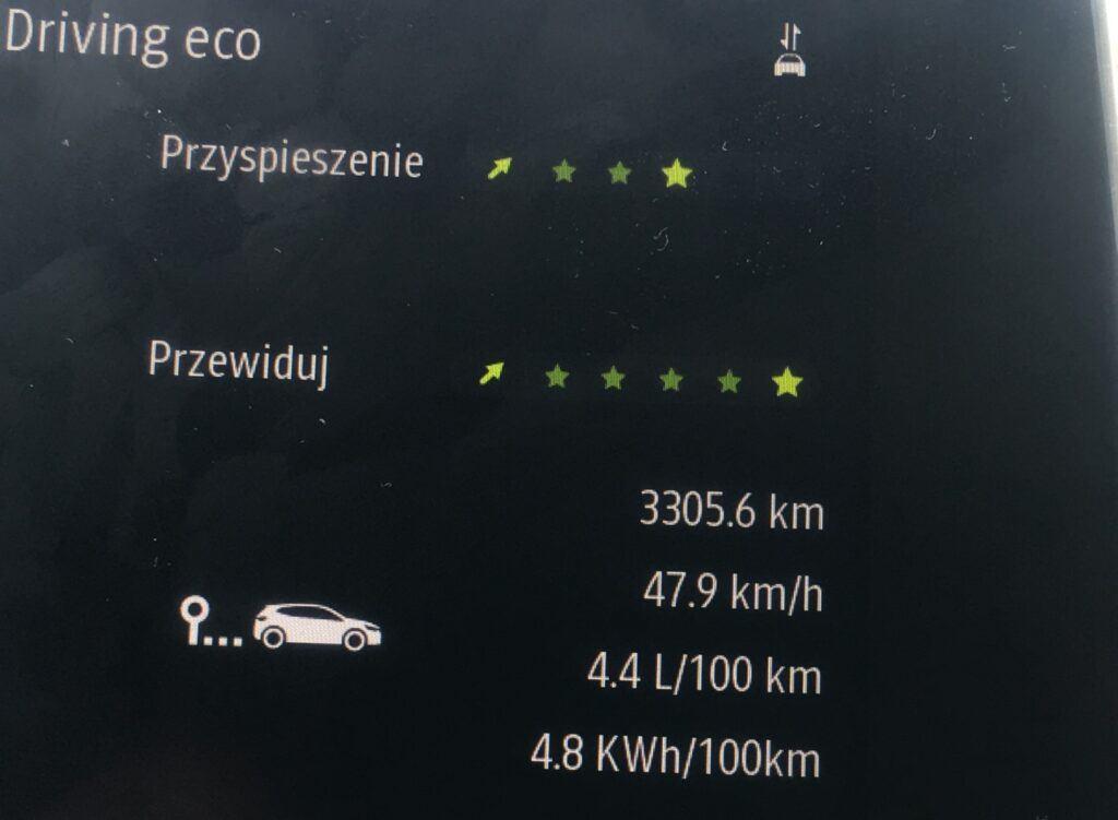 Arkana - zuzycie paliwa