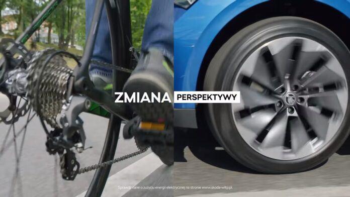 Skoda_zmiana_perspektywy_bezpieczeństwo_rower_samochód