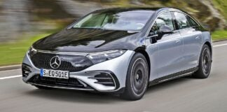 Mercedes EQS - przód