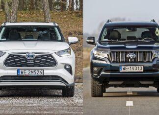 Toyota Highlander czy Toyota Land Cruiser? Porównanie SUV-ów