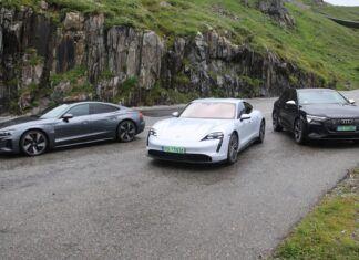 Elektryzująca radość z jazdy, czyli Taycan, e-tron i e-tron GT w Alpach