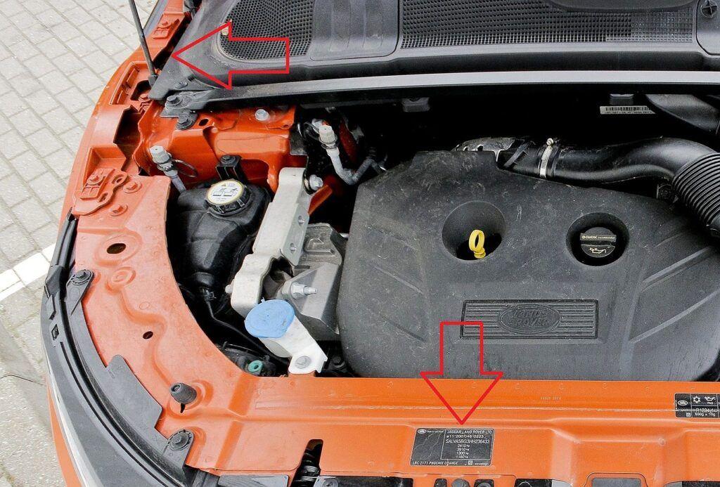 Range Rover Evoque numer VIN