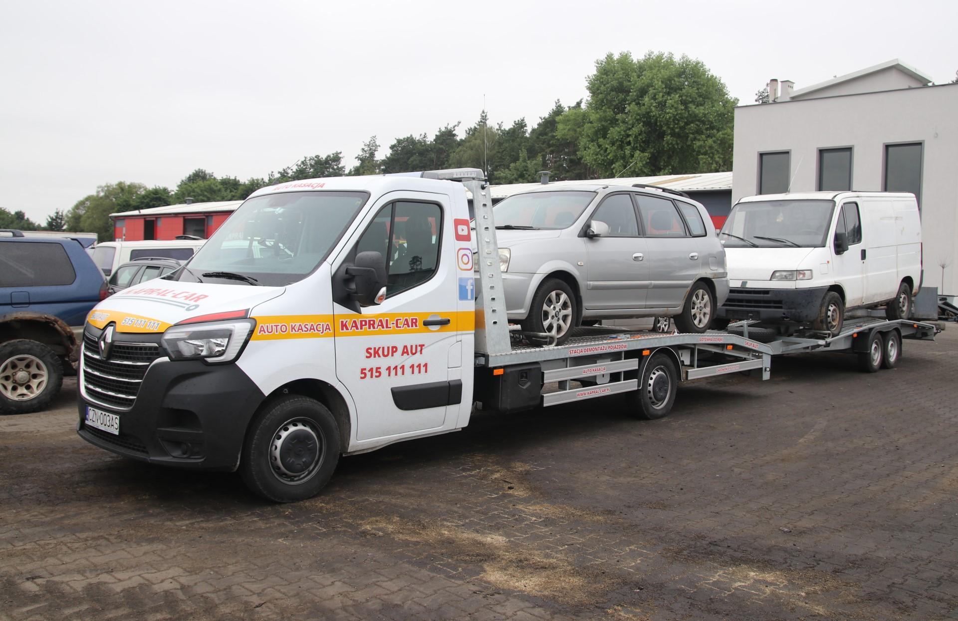Transport pojazdow na zlomowanie