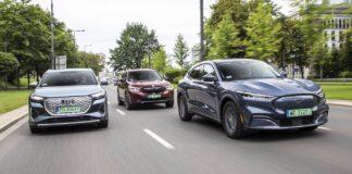 audi q4 e-tron bmw ix3 ford mustang mach-e test 2021