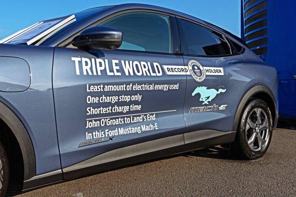 Ford Mustang Mach-E - trzy rekordy Guinnessa