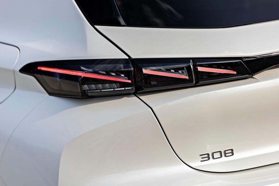 Peugeot 308 - tylne światła