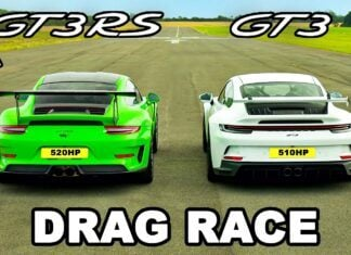 Nowe Porsche 911 GT3 kontra Porsche 911 GT3 RS na 1/4 mili